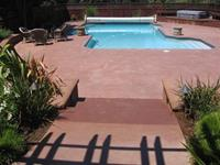 Custom pool patio/pool deck in Mill Valley, Marin County