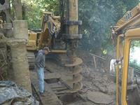 Drilled piers with cave-in conditions require casing at one of our Guerneville projects